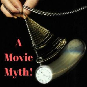 hypnosis and life coaching editorial image saying a movie myth